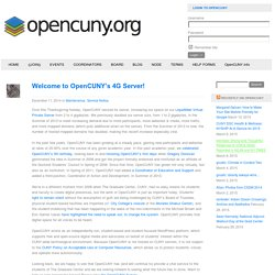 Welcome to OpenCUNY's 4G Server! - The OpenCUNY Academic Medium