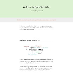 Welcome to OpenStreetMap