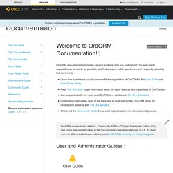 Welcome to OroCRM Documentation! - OroCRM - Open-Source CRM