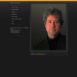 Erik Verlinde homepage
