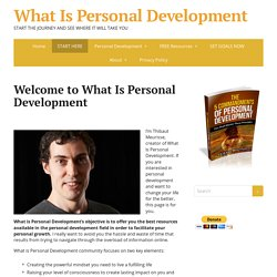 Welcome to What Is Personal Development - What Is Personal Development