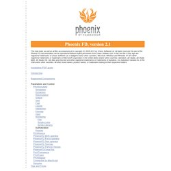 Welcome to the Phoenix FD help index (starting page)