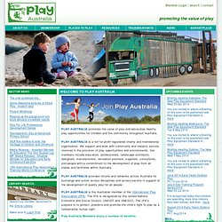 Welcome to Play Australia | Play Australia