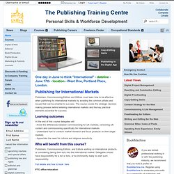 Publishing Training Centre - courses in proofreading, editing and other publishing skills