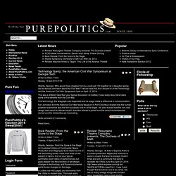 Welcome to PurePolitics.com