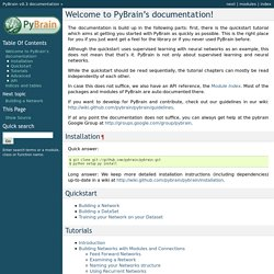 Welcome to PyBrain's documentation! — PyBrain v0.3 documentation