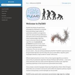 Welcome to PyGMO — PyGMO 1.1.7dev documentation