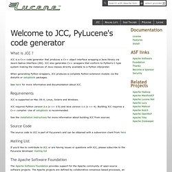 Welcome to JCC, PyLucene's code generator