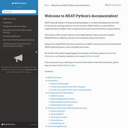 Welcome to NEAT-Python's documentation! — NEAT-Python 0.9 documentation