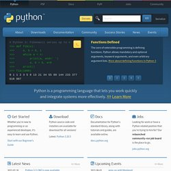 Python Programming Language -- Official Website