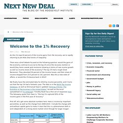 Welcome to the 1% Recovery » New Deal 2.0