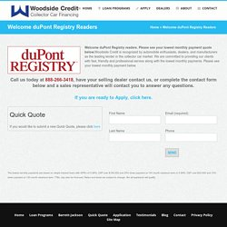 duPont Registry Finance by Woodside Credit