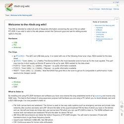 Welcome to the rtlsdr.org wiki! [rtlsdr.org wiki]