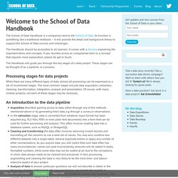 School of Data - Learn how to find, process, analyze and visualize data