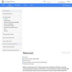 Guide des webmasters de sites mobiles