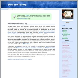 Welcome · SensorWiki.org