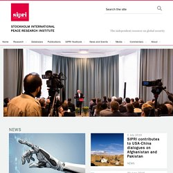 Welcome to SIPRI — www.sipri.org