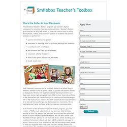 Welcome to Smilebox's Teacher's Toolbox