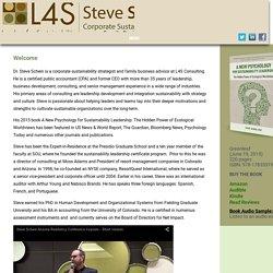 Welcome - Steve Schein
