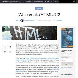 Welcome to HTML 5.2!Telerik Developer Network