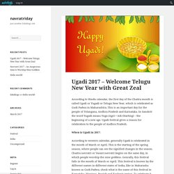 Ugadi 2017 – Welcome Telugu New Year with Great Zeal – navratriday