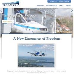 Terrafugia - Transition®, the Roadable Light Sport Aircraft : Home
