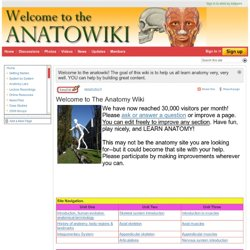Welcome to The Anatomy Wiki - The Anatomy Wiki