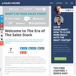 Welcome to The Era of The Sales Stack