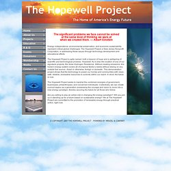 Welcome to The Hopewell Project