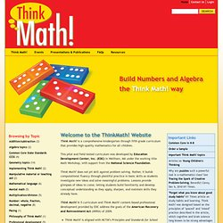 CCSS Mathematical Practices - Thinkmath