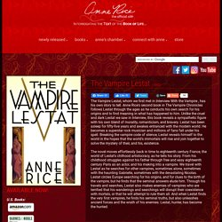 Welcome To Anne Rice.com!