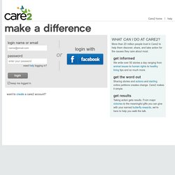 My Care2 - Edit Contact Info