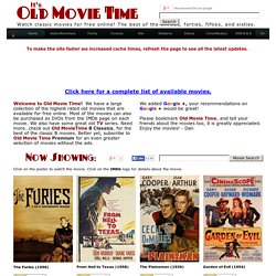 Welcome to Old Movie Time