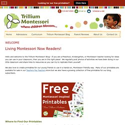 WELCOME — trilliummontessori.org