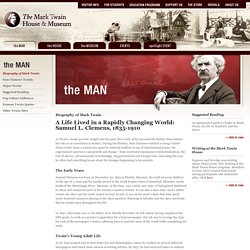 Welcome to the Mark Twain House & Museum - Biography of Mark Twain