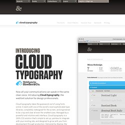 Welcome to Cloud.typography | Webfonts by H&FJ