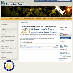 Riverside County - Extension Office Home Page