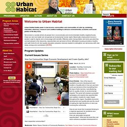 Welcome to Urban Habitat | Urban Habitat