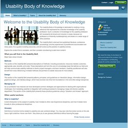 Usability Body of Knowledge