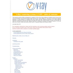 Welcome to V-Ray (starting page)
