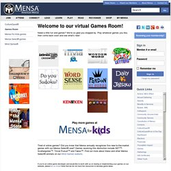 Welcome to our virtual Games Room! - American Mensa, Ltd.