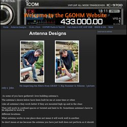 Welcome to the G6OHM Website - Antenna Designs