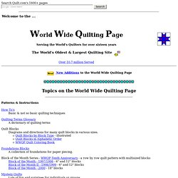 World Wide Quilting Page