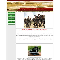 Welcome to www.worldwar2-militaria.com