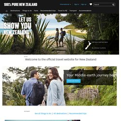 New Zealand 100% Pure | Official Travel information from Tourism New Zealand