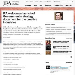 IPA welcomes launch of Government's strategy document for the creative industries
