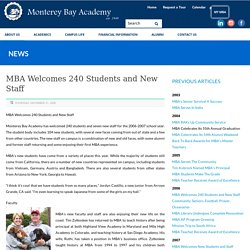 Monterey Bay Academy Welcomes 240 Students and New Staff