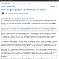 Welcoming oslo.policy into the OpenStack Oslo family - IBM OpenTech