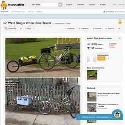 No Weld Single Wheel Bike Trailer - All