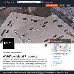 Sheet Metal Companies- Weldflow Metal Products
